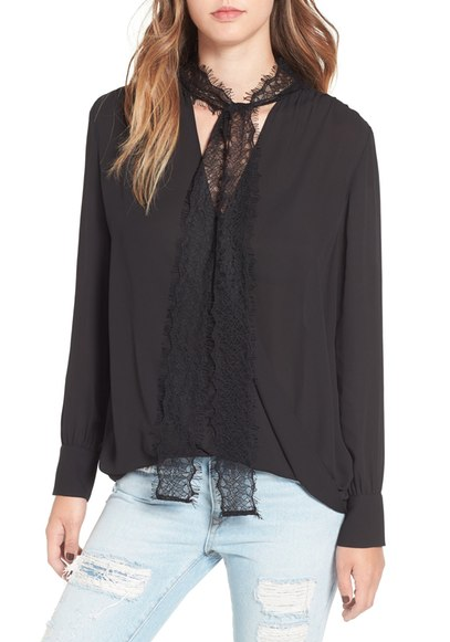 Black and lace date night top