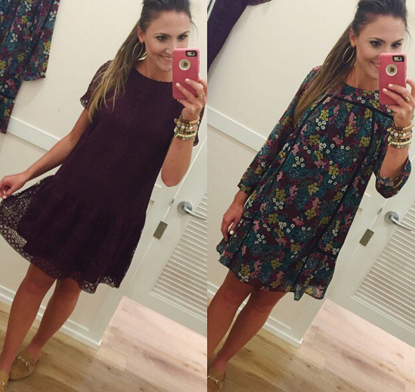 Two cute Fall transitional dresses available at LOFT