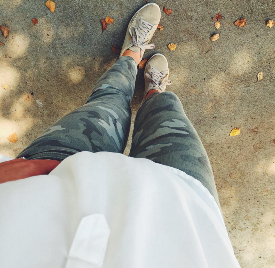 How to wear camo skinnies for Fall