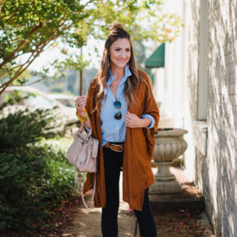 Striped Button Up Styled for Fall