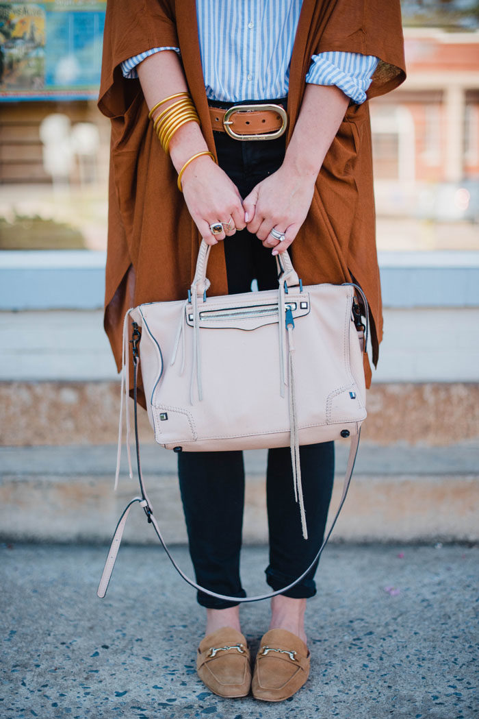 This Rebecca Minkoff Regan Satchel is a perfect blush neutral for Fall