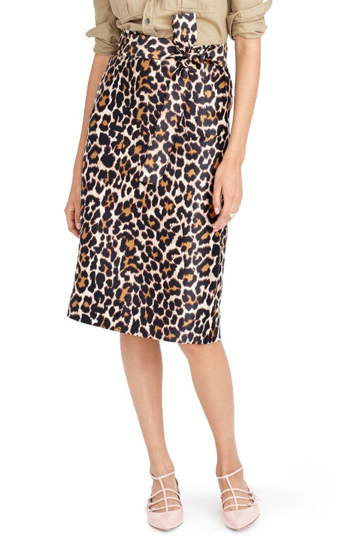Tie Waist Leopard Print Skirt by J.Crew is now available at Nordstrom