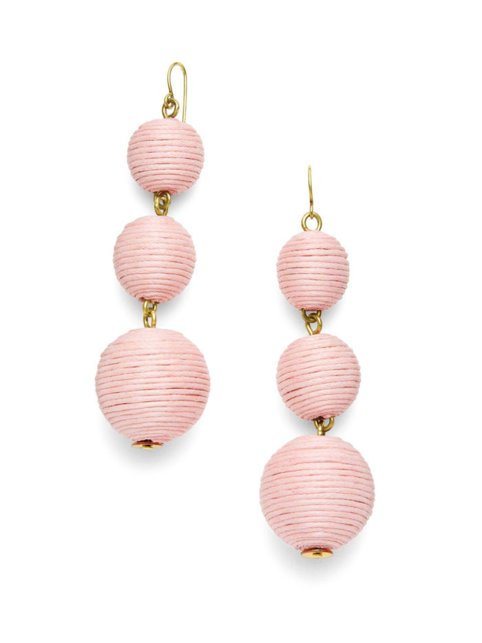 BaubleBar Crispin Bubble Earrings in Blush Pink