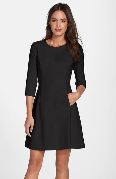 Black Crepe A LIne Dress on SaLE! Perfect for work!