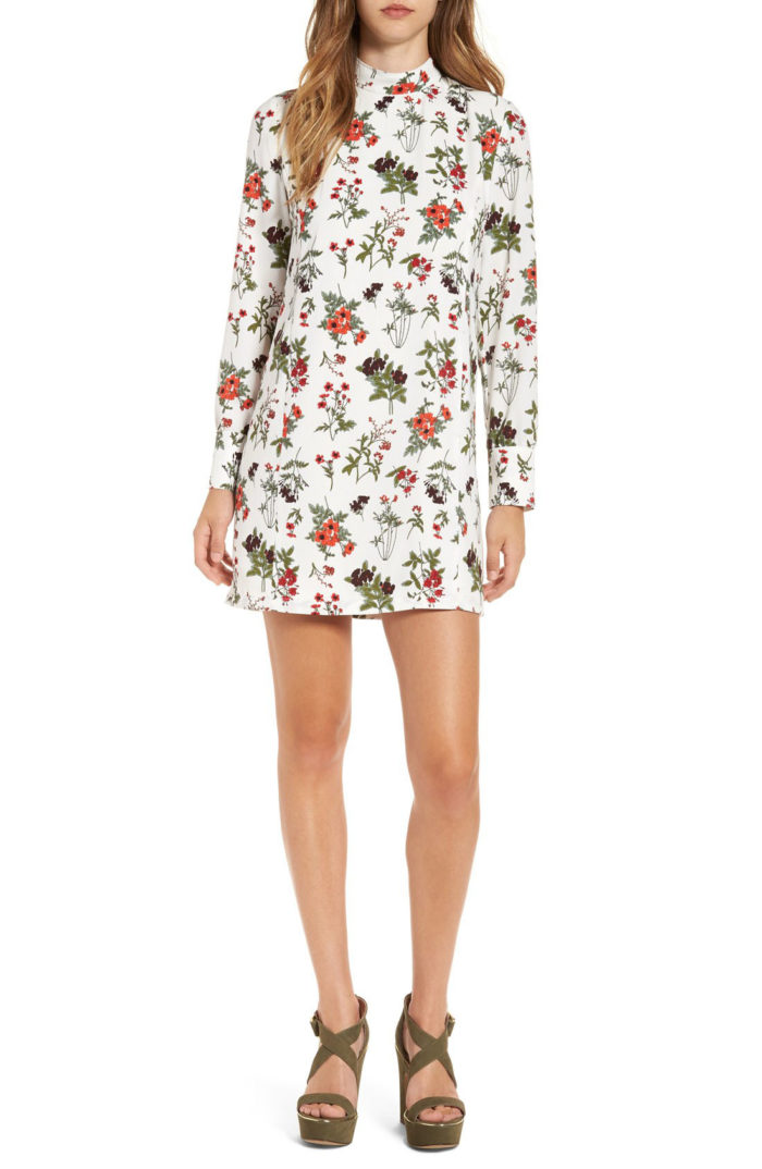 mock-neck-floral-dress