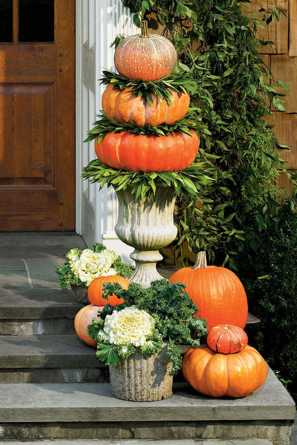 DIY Pumpkin Topiary Idea