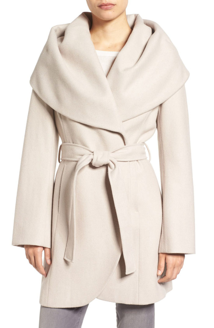 Shawl Collar wool coat on sale