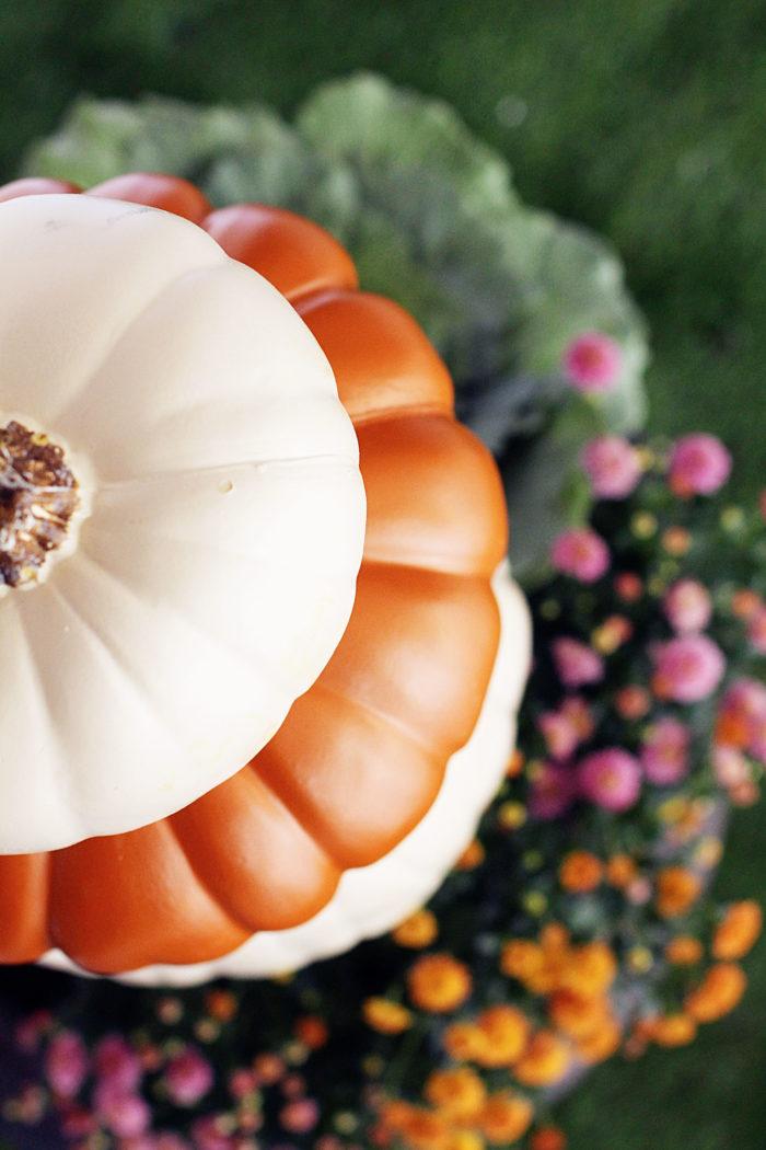 DIY Pumpkin Topiary for a fun Fall project