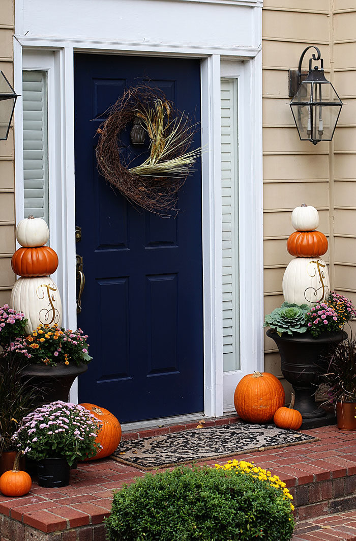 Fall Porch Diy Pumpkin Topiary Home Decor Style Your Senses