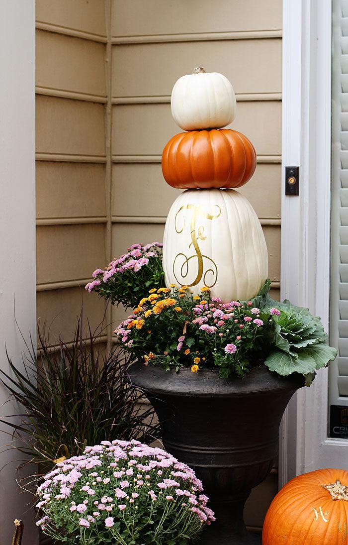 Fall Porch Diy Pumpkin Topiary Home Decor Style Your Senses