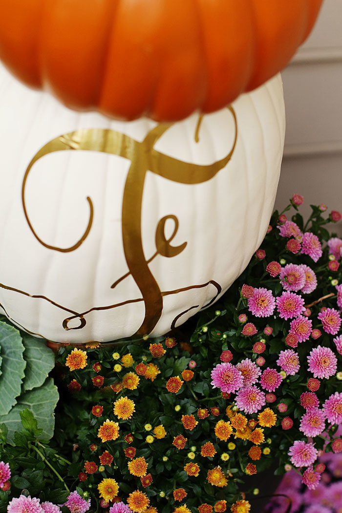 DIY Pumpkin Topiary for a fun Fall projectFall Porch with pumpkin topiary featured by popular Dallas life and style blogger, Style Your Senses