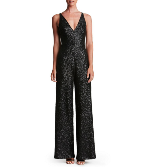 Dress the Population Sequin Jumpsuit for Holiday
