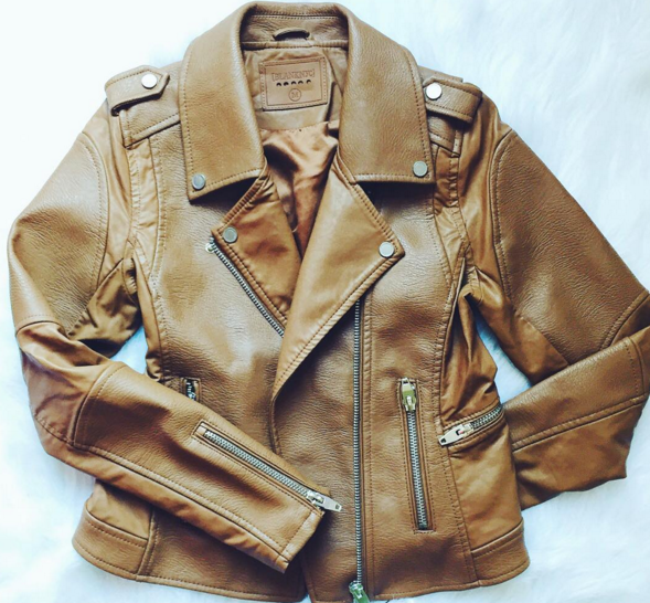 Gorgeous cognac leather jacket that's under $100!