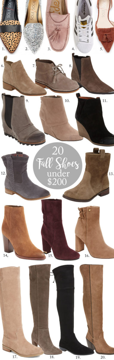 20 of my favorite, affordable boots for Fall 2016!