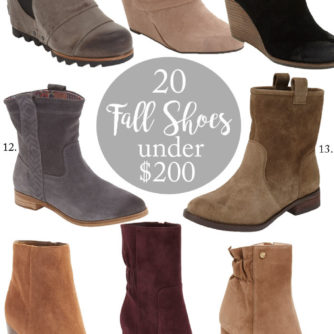 Fall Finds | Shoes and Boots Under $200