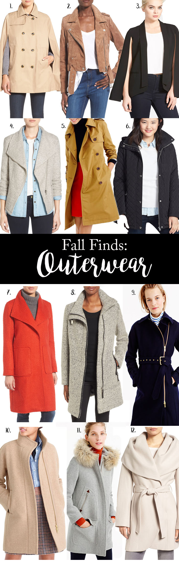 A Roundup of all of the best outerwear for Fall 2016!