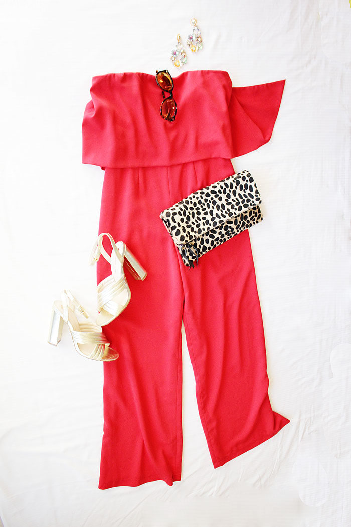 Red JumpSuit from Rent the Runway