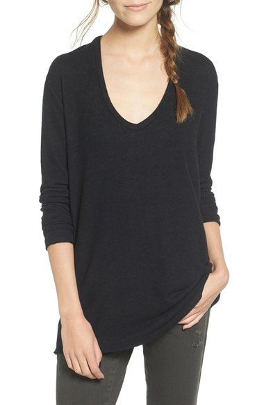 Cute, cozy and inexpensive v-neck sweater that's only $39.