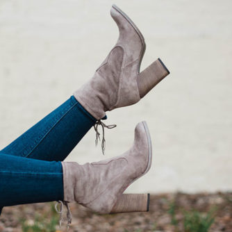 Dolce Vita Grey Suede Mid Calf Booties
