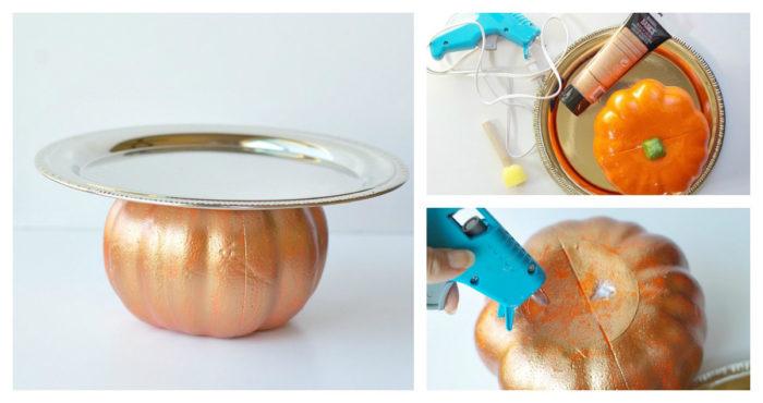 DIY Pumpkin serving trey