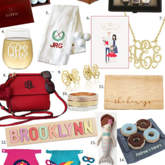 Holiday Gift Guide | Personalized Gifts