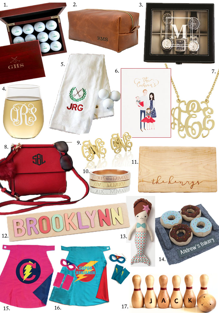 Etsy Holiday Gift Guide for personalized gifts