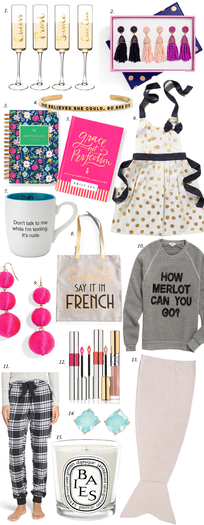 A Holiday Gift Guide for all of your girlfriends who are on your Christmas list