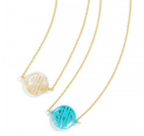 Monogrammed necklace set