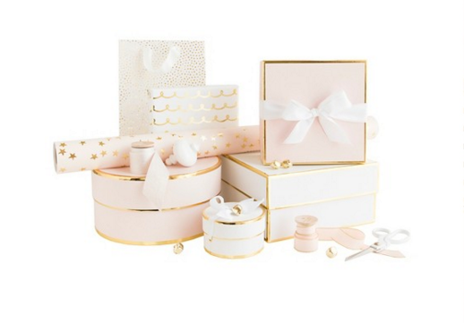 Sugar Paper gift wrap collection in blush