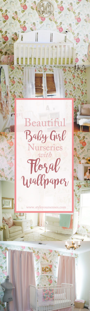 Beautiful abby girl nursery inspiration using floral wallpaper