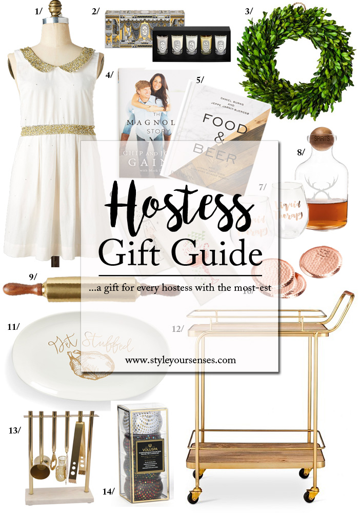 A Holiday Gift Guide for Hostess Gifts that are on-trend, affordable and easy.