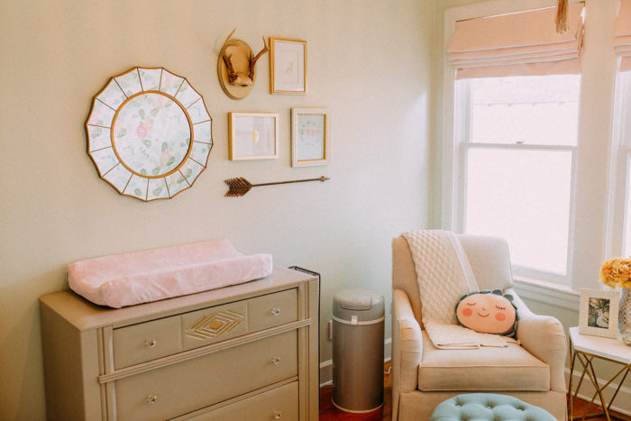 Gorgeous baby girl nursery inspiration gallery wall