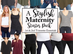 Maternity clothing essentials.