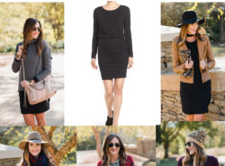 One dress worn 5 ways. Blogger Mallory Fitzsimmons of Style Your Senses shows you how versatile this black body con dress from Nordstrom is