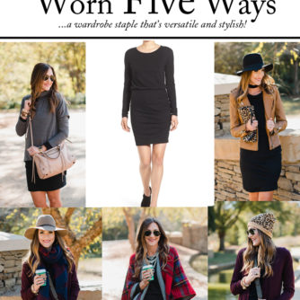 One Dress = FIVE Great Fall Outfits!