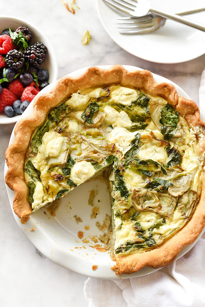 artichoke-spinach-and-goat-cheese-quiche-foodiecrush-com-040 - Christmas Morning Brunch Ideas for Christmas Morning featured by popular Texas lifestyle blogger, Style Your Senses
