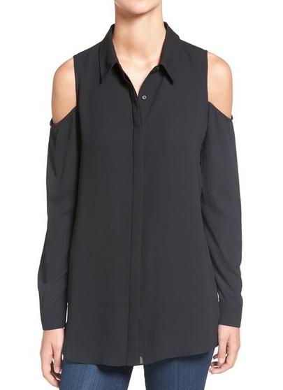 Pleione cold shoulder blouse