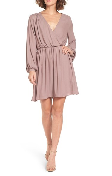 Lush Surplice Skater Dress
