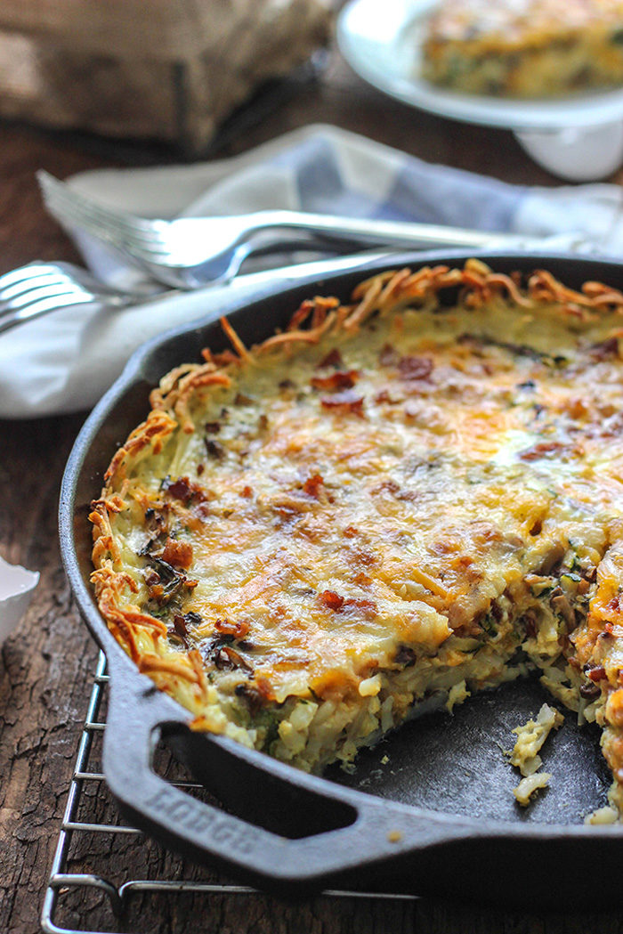 hash-brown-breakfast-quiche-1 - Christmas Morning Brunch Ideas for Christmas Morning featured by popular Texas lifestyle blogger, Style Your Senses