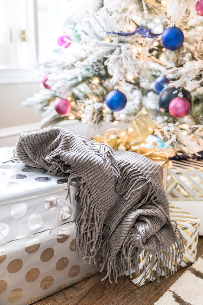 Sharing my favorite stocking stuffer ideas under $30 with Nordstrom and this fringe infinity scarf definitely tops the list!