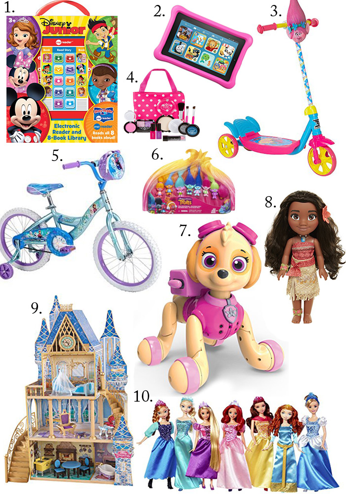 Top 10 toys for toddler girls as Santa gifts