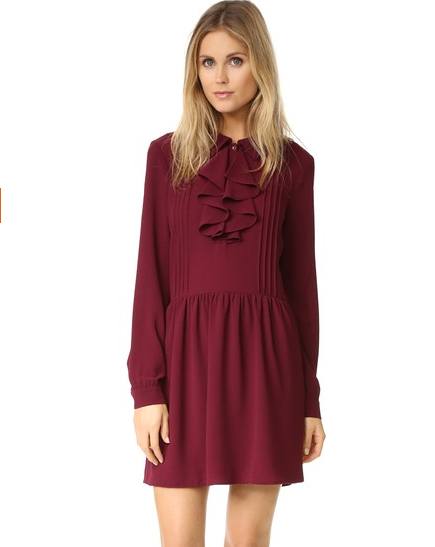 Flirty Pintuck Dress for Valentines Day