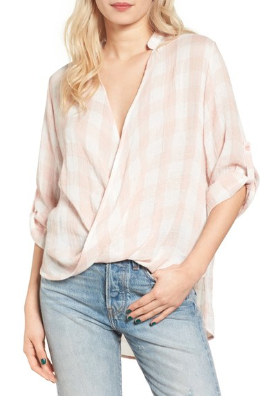 Such a cute top for Spring, especially paired with white denim.