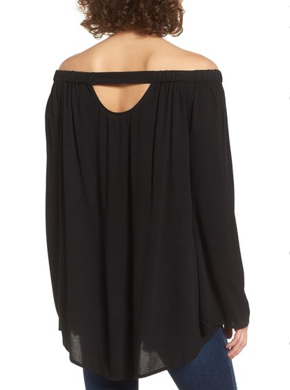Cute off the shoulder tunic top that's under $50