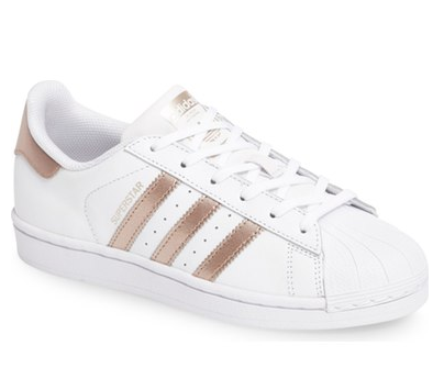 Adidas Super star in rose gold for women