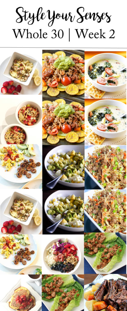Whole 30 Meal Plan Week two