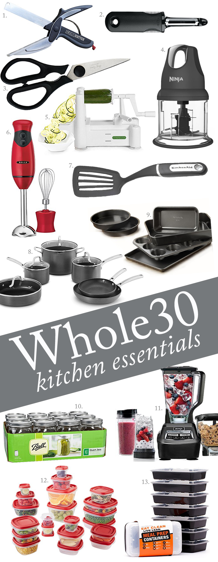 Whole30 Kitchen Essentials Shopping List