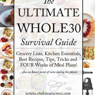The Ultimate Whole30 survival guide! Recipes, grocery lists, meal plans, tips, tricks and a personal journey. Whole30 grocery list by popular Texas lifestyle blogger, Style Your Senses