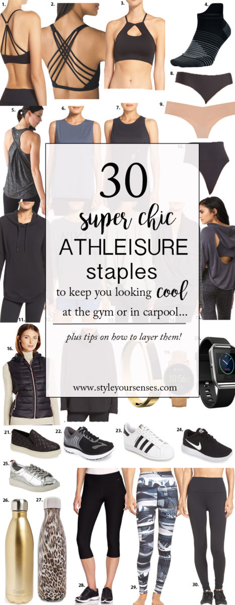 Athleisure Capsule Wardrobe - 30 pieces that will keep you chic and comfy from the gym to the carpool!