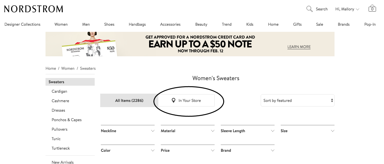 How to shop Nordstrom online